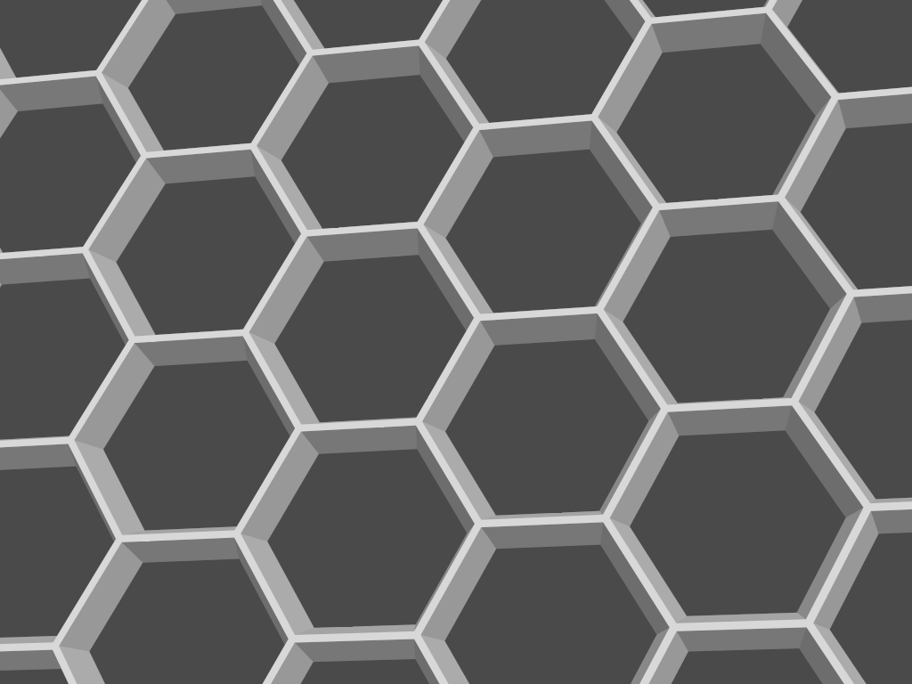 A hexagonal conductive grid